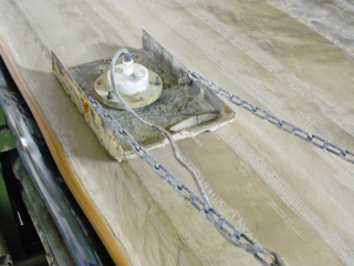 Moisture measurement of  FGD gypsum on the conveyor belt